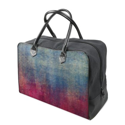 Scotch - Holdalls - Scottish plaid, woolen, red and blue, bright, eye-catchy art, brush strokes, energetic, spectacular, punk, grunge, abstract, unique gift  - design by Tiana Lofd