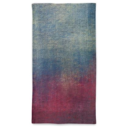 Scotch - Neck Tube Scarf - Scottish plaid, woolen, red and blue, bright, eye-catchy art, brush strokes, energetic, spectacular, punk, grunge, abstract, unique gift  - design by Tiana Lofd