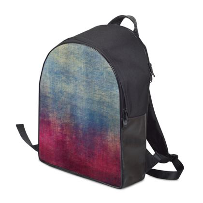Scotch - Backpack - Scottish plaid, woolen, red and blue, bright, eye-catchy art, brush strokes, energetic, spectacular, punk, grunge, abstract, unique gift  - design by Tiana Lofd