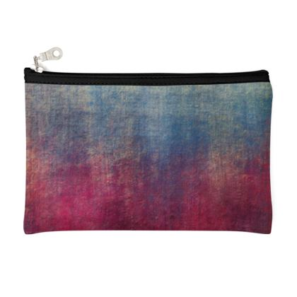 Scotch - Pencil Case - Scottish plaid, woolen, red and blue, bright, eye-catchy art, brush strokes, energetic, spectacular, punk, grunge, abstract, unique gift  - design by Tiana Lofd