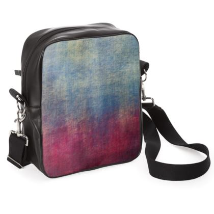 Scotch - Shoulder Bag - Scottish plaid, woolen, red and blue, bright, eye-catchy art, brush strokes, energetic, spectacular, punk, grunge, abstract, unique gift  - design by Tiana Lofd