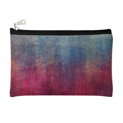 Scotch - Zip Top Pouch - Scottish plaid, woolen, red and blue, bright, eye-catchy art, brush strokes, energetic, spectacular, punk, grunge, abstract, unique gift  - design by Tiana Lofd