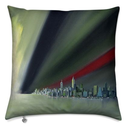 Red Ray Cushion