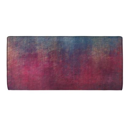 Scotch - Travel Wallet - Scottish plaid, woolen, red and blue, bright, eye-catchy art, brush strokes, energetic, spectacular, punk, grunge, abstract, unique gift  - design by Tiana Lofd