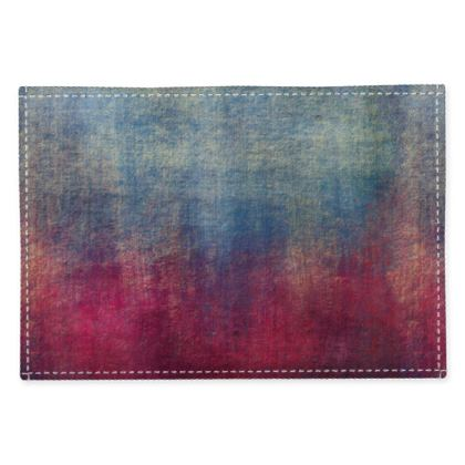 Scotch - Fabric Placemats - Scottish plaid, woolen, red and blue, bright, eye-catchy art, brush strokes, energetic, spectacular, punk, grunge, abstract, unique gift  - design by Tiana Lofd