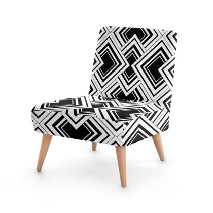 Occasional Chair Black And White Art Deco