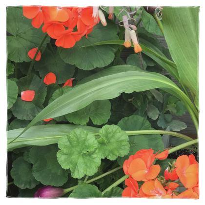 Scarf Wrap or Shawl - Orange Geraniums