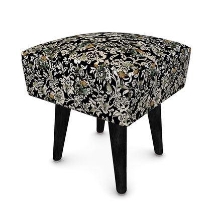 Footstool Just Bees and Dials and Fish and Tulips