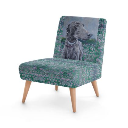 Pretty as a Picture Greyhound Designer Occasional Chair