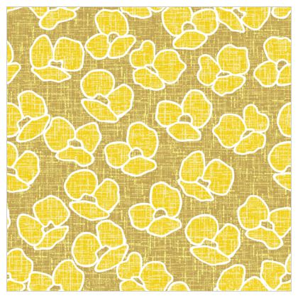 Golden poppies - Fabric Printing - yellow flowers, summer floral, flowering meadow, nature design, graphic, sun energetic - designed by Tiana Lofd