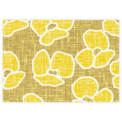 Golden poppies - Fabric Sample Test Print - yellow flowers, summer floral, flowering meadow, nature design, graphic, sun energetic - designed by Tiana Lofd