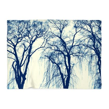 Blue Trees Blanket
