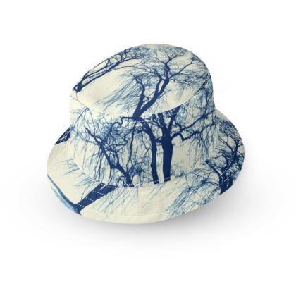 Blue Trees Bucket Hat
