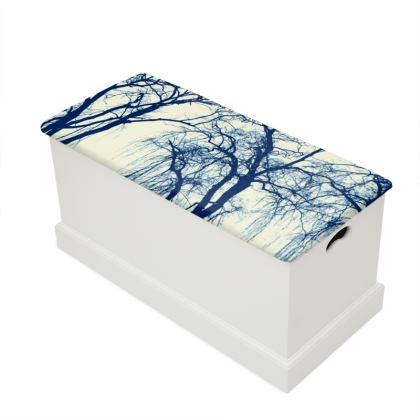 Blue Trees Blanket Box