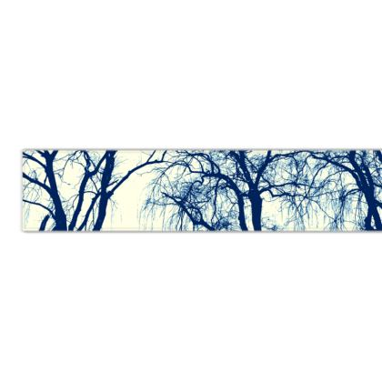Blue Trees Fleece Scarf