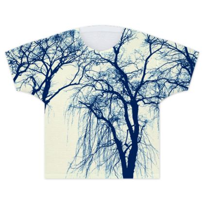 Blue Trees Kids T Shirt