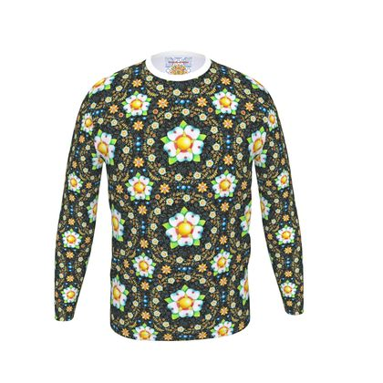 Daisy Flower Crown Long Sleeve Men's T