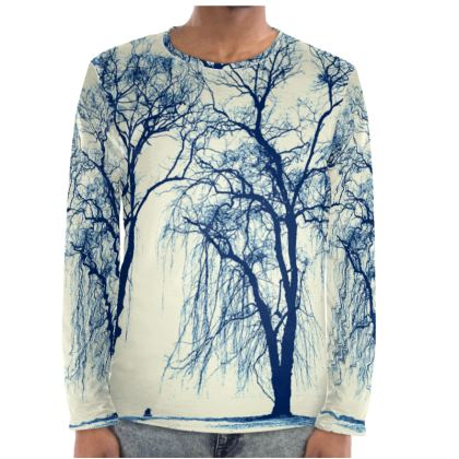 Blue Trees Long Sleeve Shirt