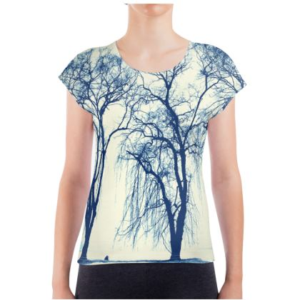 Blue Trees Ladies T Shirt