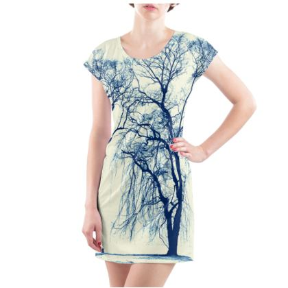 Blue Trees Ladies Tunic T Shirt