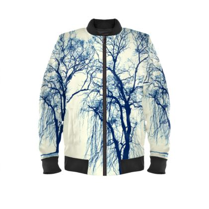 Blue Trees Mens Bomber Jacket