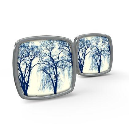 Blue Trees Cufflinks