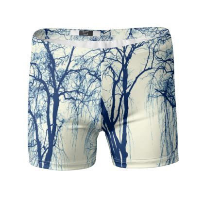 Blue Trees Swimming Trunk