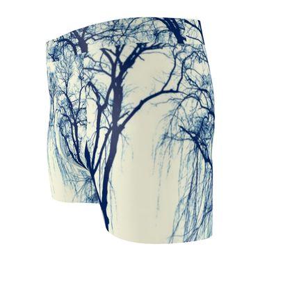 Blue Trees Cut & Sew Boxer Brief