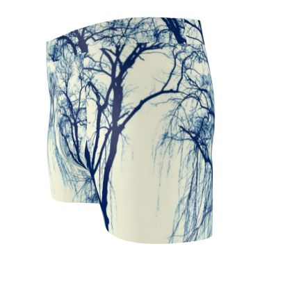 Blue Trees Cut & Sew Boxer Brief