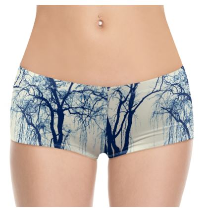 Blue Trees Hot Pants
