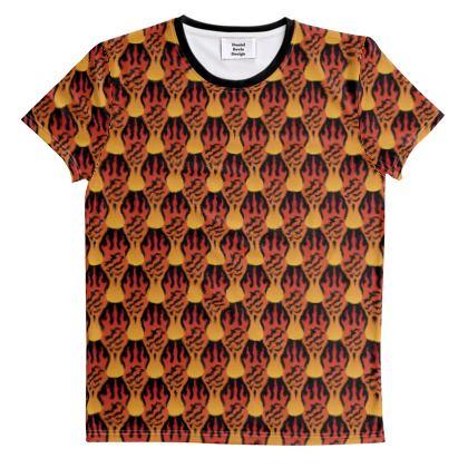 Fiery Flames Pattern [ON BLACK]