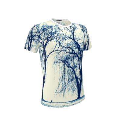 Blue Trees Cut and Sew T Shirt