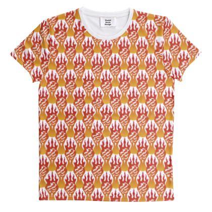 Fiery Scorch Pattern [On White]