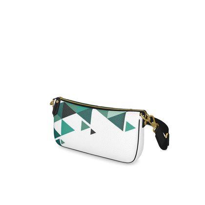 Baguette Bag - Geometric Triangles Jade