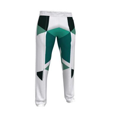 Mens Tracksuit Trousers - Geometric Triangles Jade
