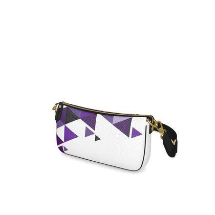 Baguette Bag - Geometric Triangles Purple