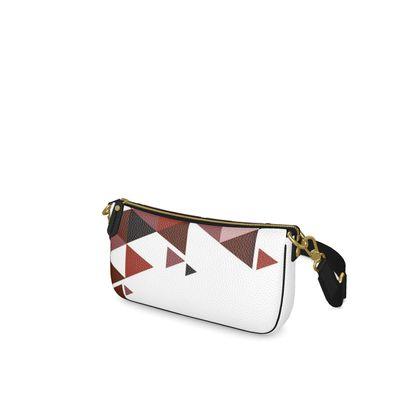 Baguette Bag - Geometric Triangles Red