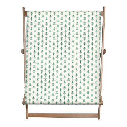 Double Deckchair - Take a hike - Woods, ecological, eco friendly gift, light, green and white, spruce forest, fir-trees, natural, nature, elegant, wildlife, minimalist - design by Tiana Lofd
