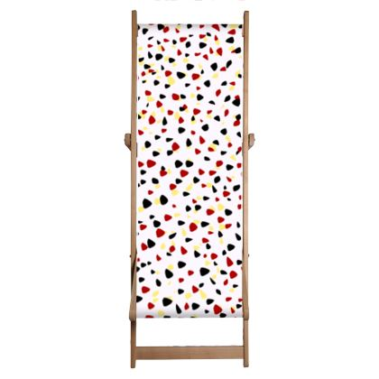 I do not care - Deckchair - abstract, bright strokes, colored dots, paint spots, expressive, light, simple, fresh, playful, cheerful, daring gift - design by Tiana Lofd