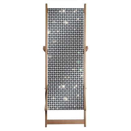 Diamond glamor - Deckchair - Brilliant crystals, chic, black and white, sparkling, precious, humor, looks expensive, rhinestones, glitter, jewelery, glamorous fun gift - design by Tiana Lofd