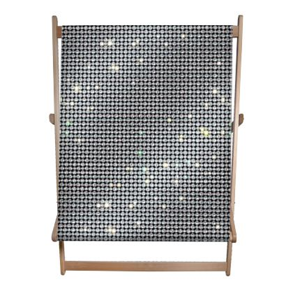 Diamond glamor - Double Deckchair - Brilliant crystals, chic, black and white, sparkling, precious, humor, looks expensive, rhinestones, glitter, jewelery, glamorous fun gift - design by Tiana Lofd