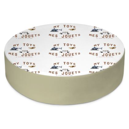 """Round Floor Cushion """"Mes Jouets"""""""