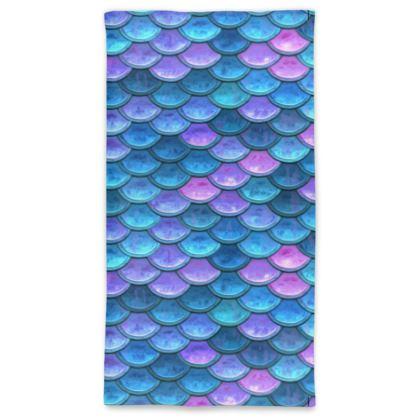 Mermaid skin - Neck Tube Scarf - Fantasy, iridescent bright pink blue scales of dragon, fish tail, mermaid lover gift, sea creature, ocean - Tiana Lofd design