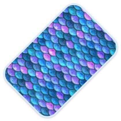 Mermaid skin - Baby Changing Mats - Fantasy, iridescent bright pink blue scales of dragon, fish tail, mermaid lover gift, sea creature, ocean - Tiana Lofd design