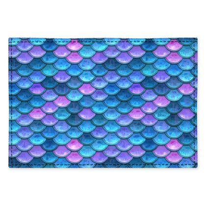 Mermaid skin - Fabric Placemats - Fantasy, iridescent bright pink blue scales of dragon, fish tail, mermaid lover gift, sea creature, ocean - Tiana Lofd design