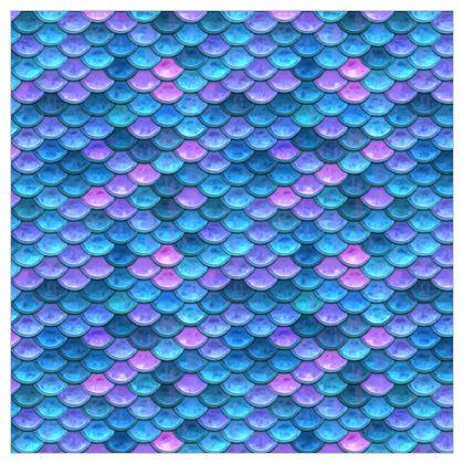 Mermaid skin - Leather Printing - Fantasy, iridescent bright pink blue scales of dragon, fish tail, mermaid lover gift, sea creature, ocean - Tiana Lofd design