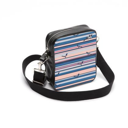 Messenger Bag in Mag Stripes (Seaside Salmon Mars)