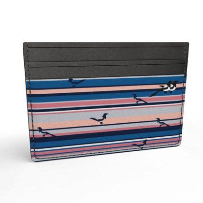 Micro Wallet in Mags Stripe (Seaside Salmon Mars)