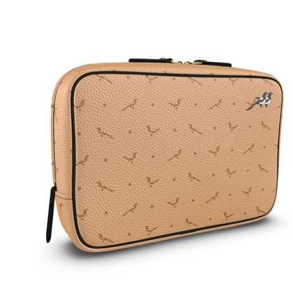 Wash Bag in Waffle Butter ft Polka Dotted Joy