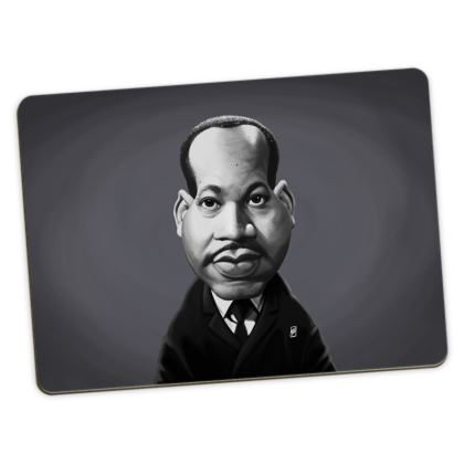 Martin Luther King Celebrity Caricature Large Placemats